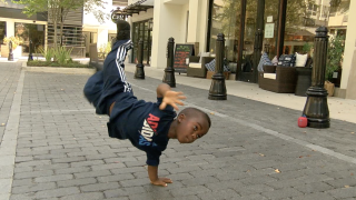 Local eight-year-old boy with crazy breakdancing skills wants to fulfill dreams as performer