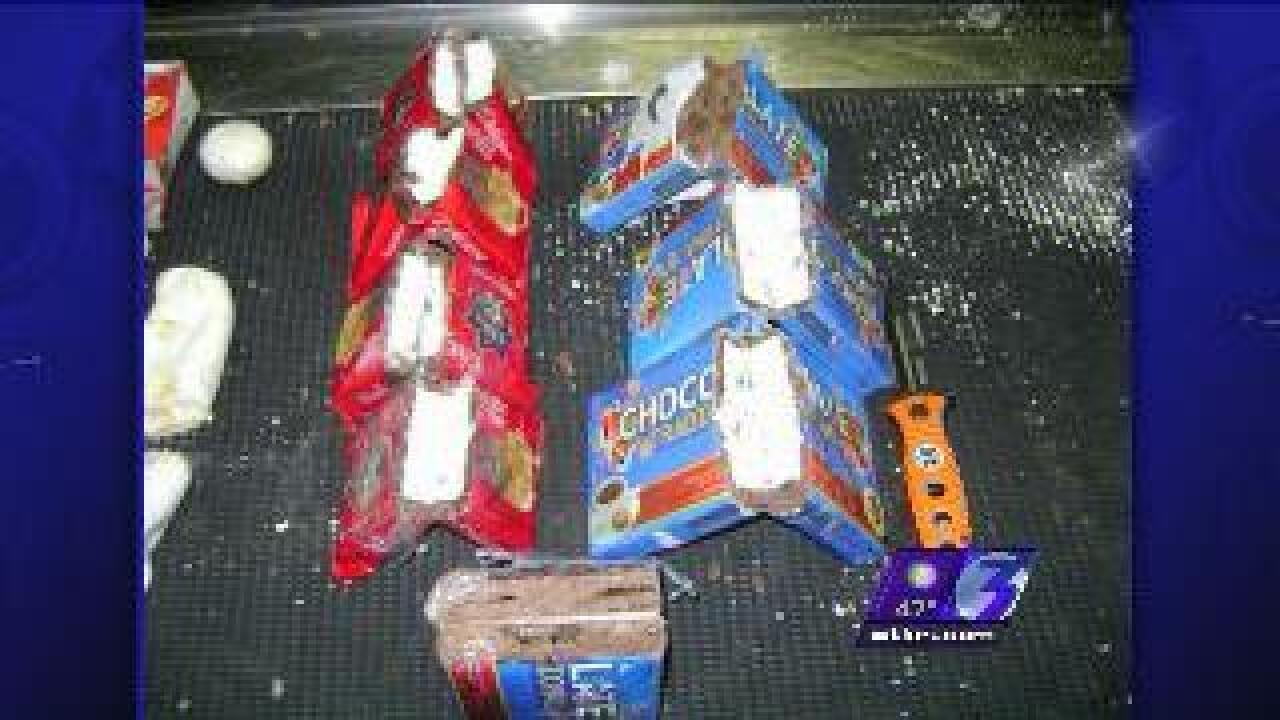 Chocolate bars filled with cocaine found at airport