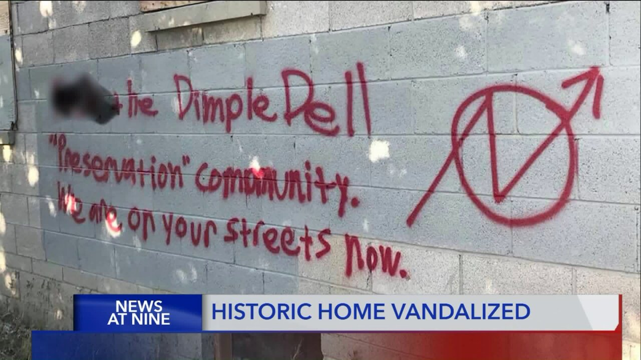 Historic house vandalized in DimpleDell