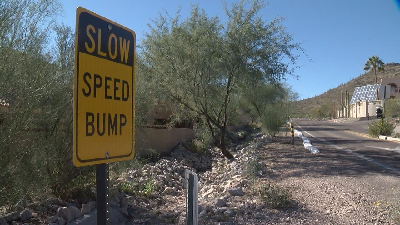 2018-11-27 A Mountain safety-speed bump sign.jpg