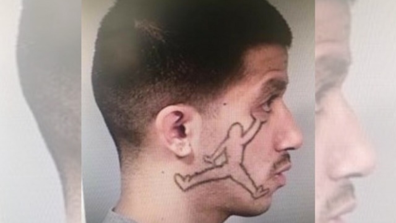 California man with 'Air Jordan' face tattoo wanted for robbery, conspiracy and auto theft