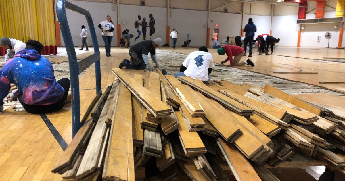 Volunteers start remodel of East CLE rec center