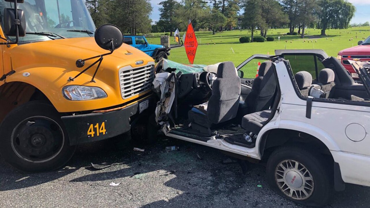 Drivers injured, students unhurt in bus-vehicle accident in Bel Air