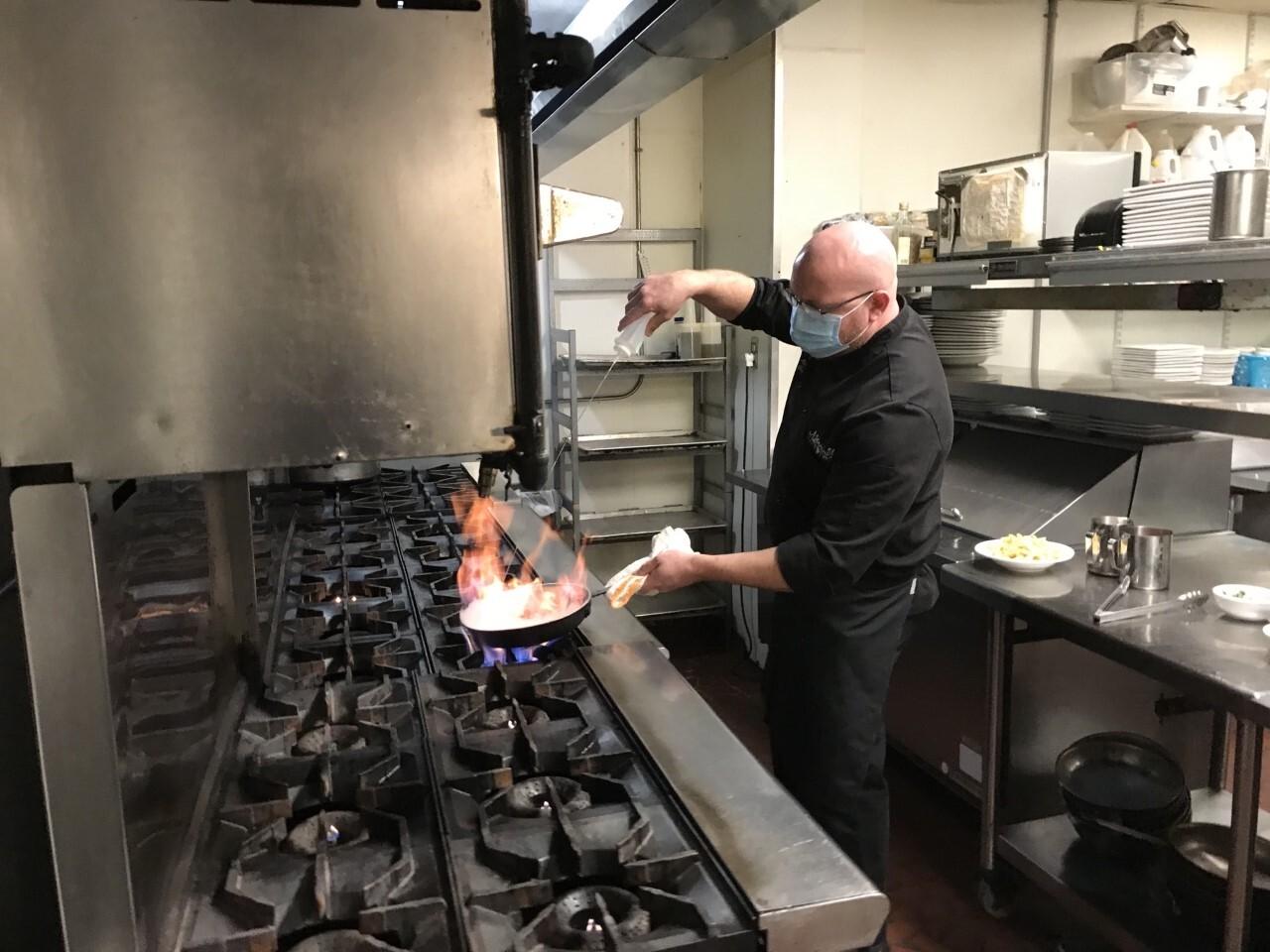John Mannino cooking