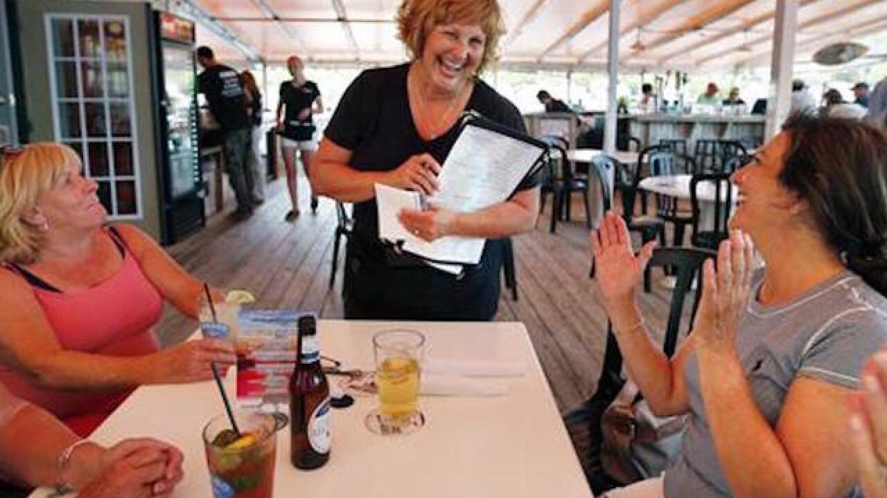 Maine's First Lady takes job as a waitress