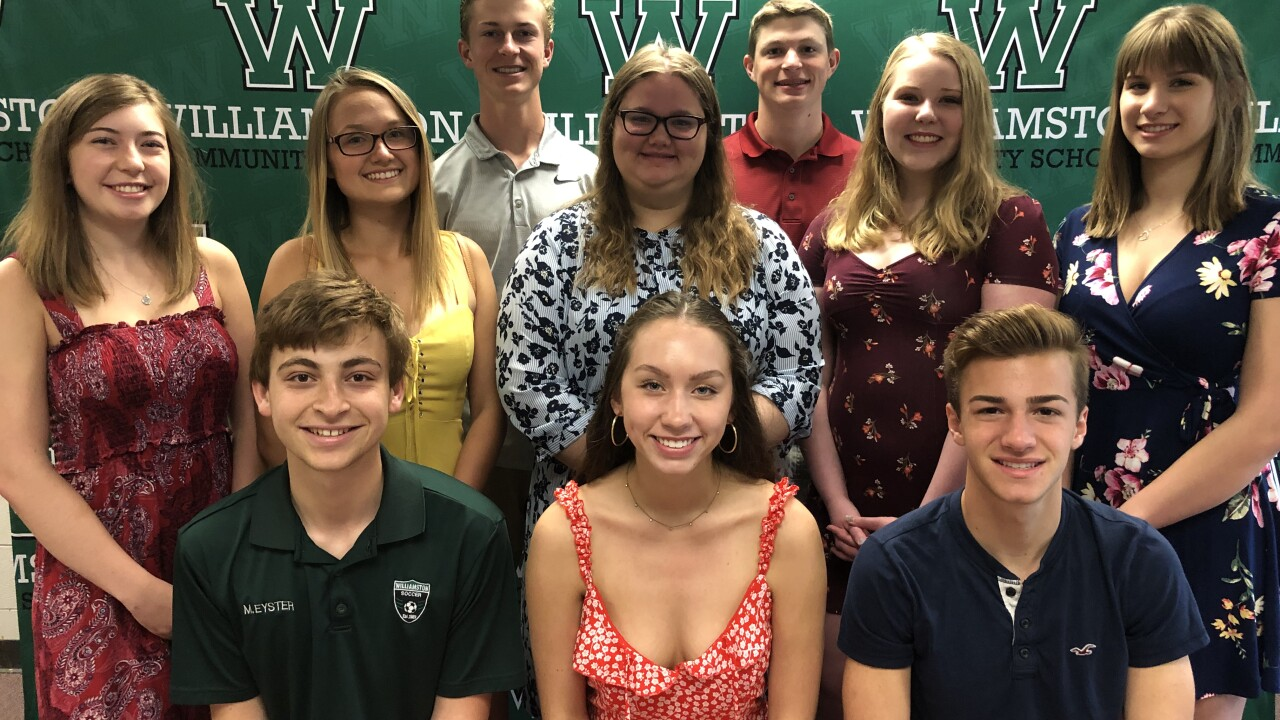 Williamston Top 10 Students