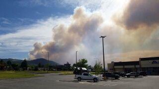 Wildfire burning near Clancy