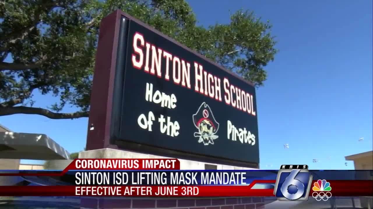 Sinton ISD lifts mask mandate, effective June 3