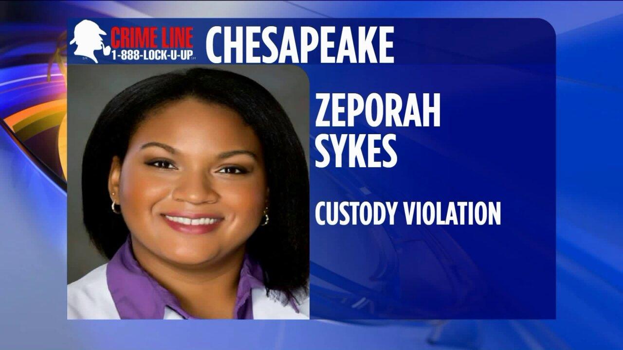 Chesapeake woman wanted for custodyviolation