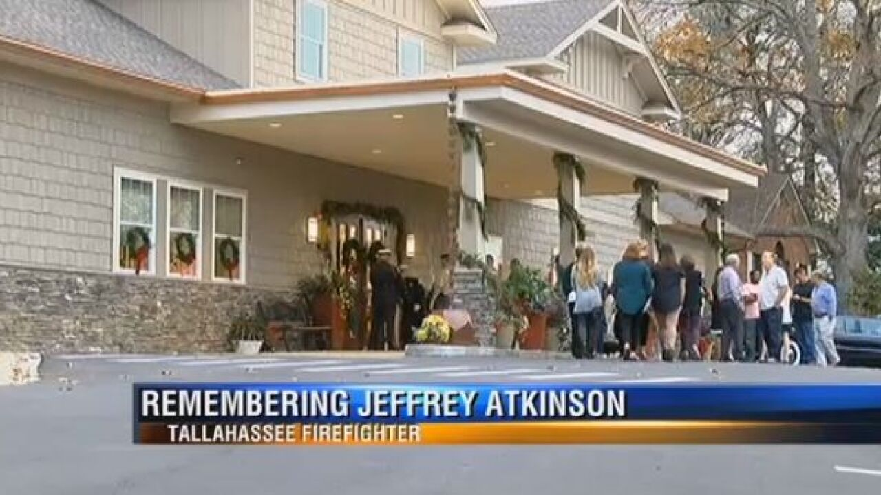 Tallahassee says goodbye to firefighter