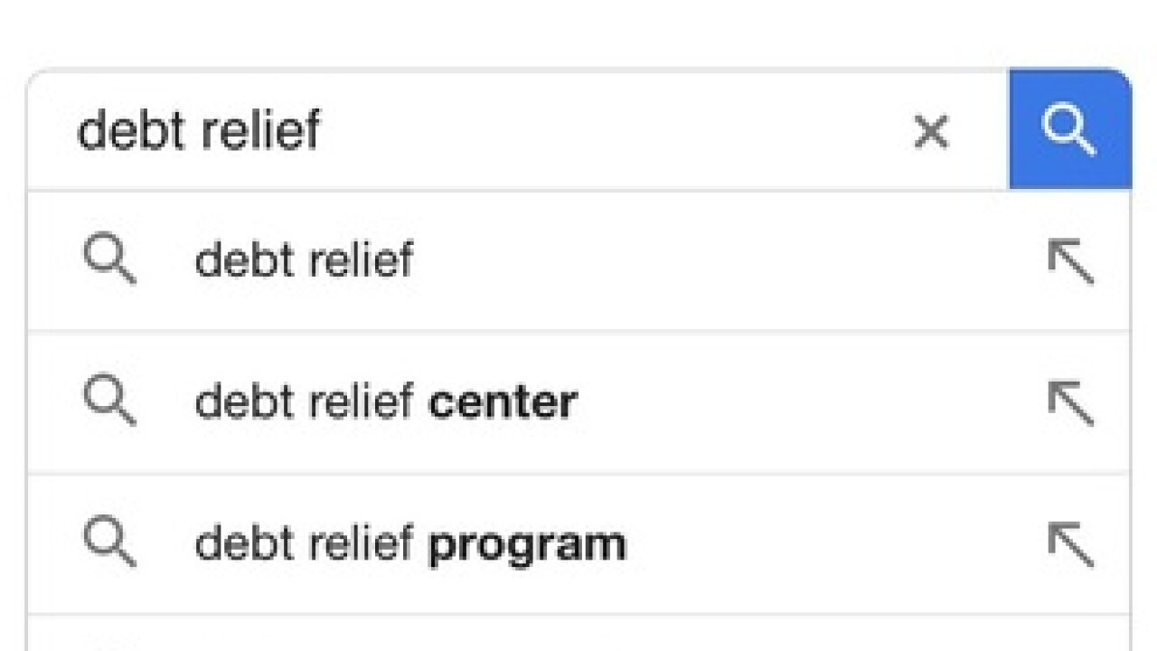 'Debt relief' a top Google search in Las Vegas