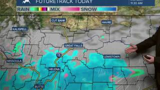 Snow/Rain showers to start off the work week