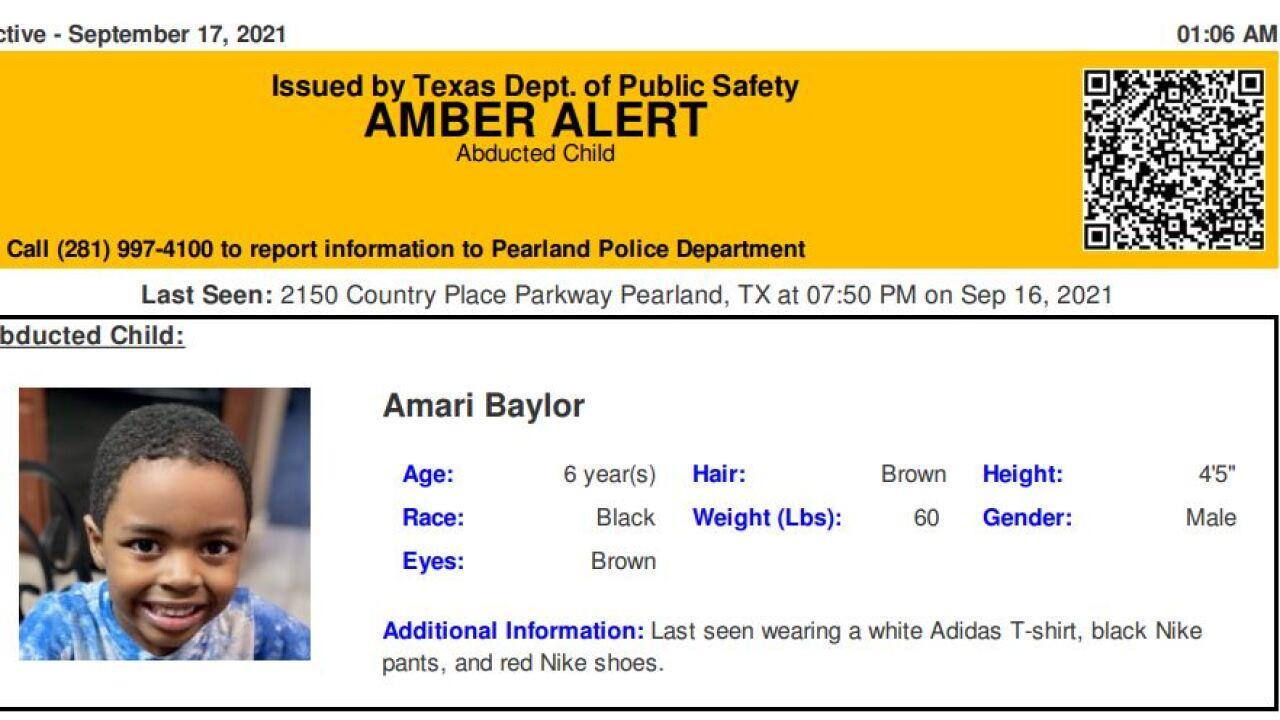 Amari Baylor Amber Alert