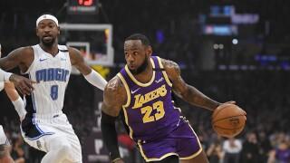 LeBron James, Orlando Magic at Los Angeles Lakers, January 2020