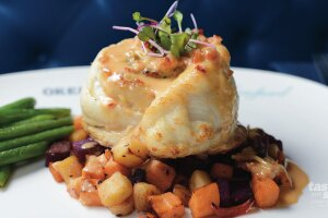 Like the steakhouse, Prime Seafood will offer a free birthday dinner of Flounder with Lobster stuffing with the purchase from their dinner menu of an adult entrée of equal or greater value.