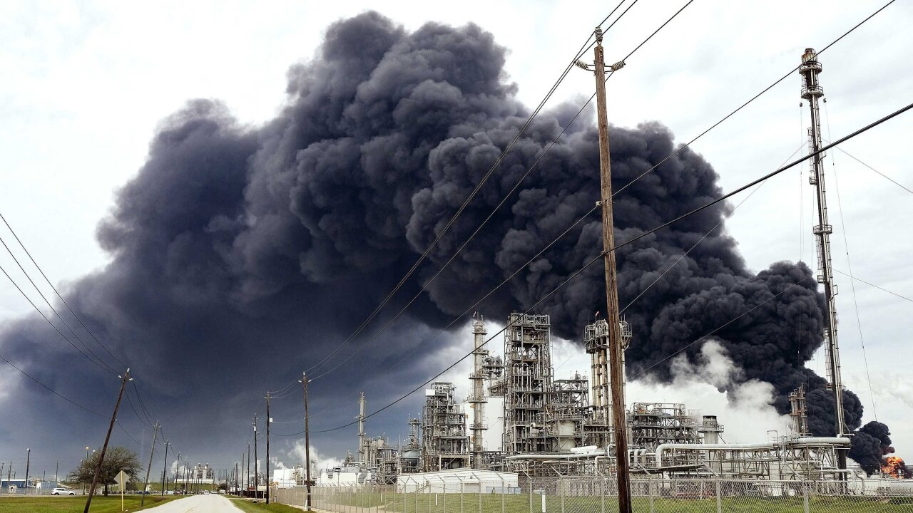 Even though a massive fire at a Texas chemical plant is out, residents can't leave their homes