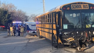 TPS bus crashes in west Tulsa