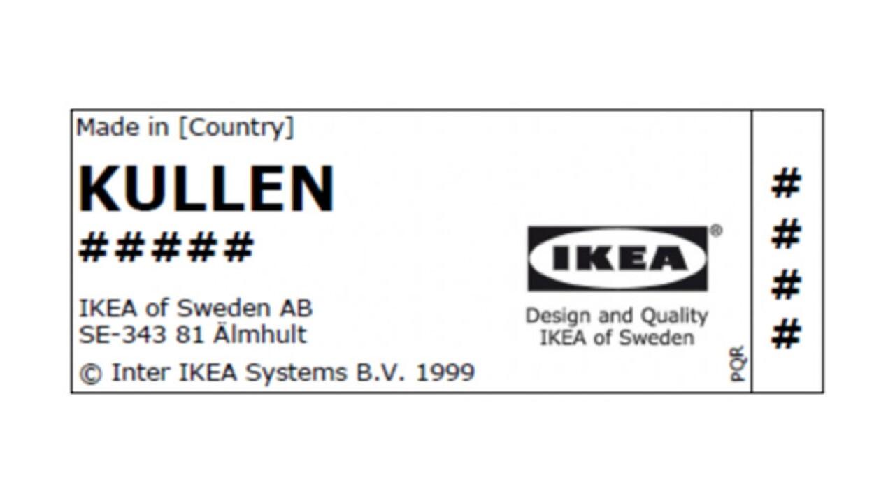 IKEA Recalls KULLEN 3-Drawer chests for tip-over, entrapment hazards