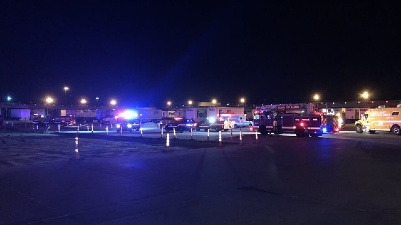 Chemical spill reported at FedEx facility