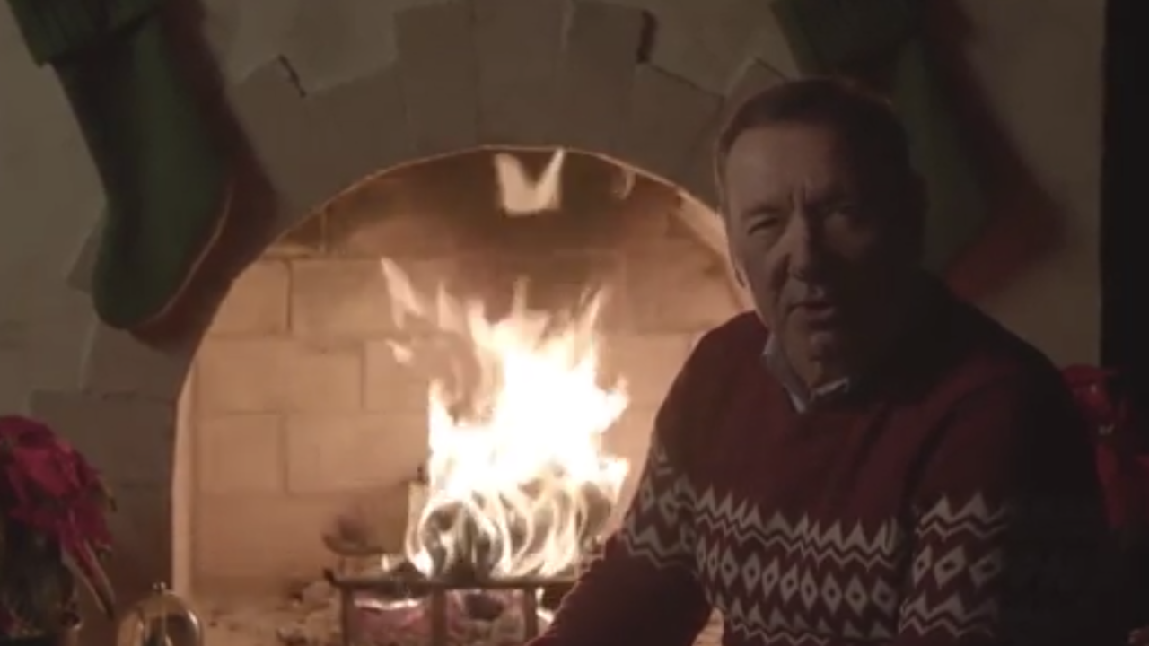 Kevin Spacey has posted another strange Christmas video