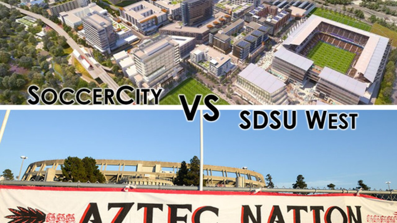 Councilman Scott Sherman compares SoccerCity, Friends of SDSU plans