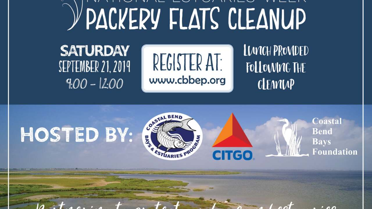 Celebrate National Estuaries Week at the Packery Flats Cleanup