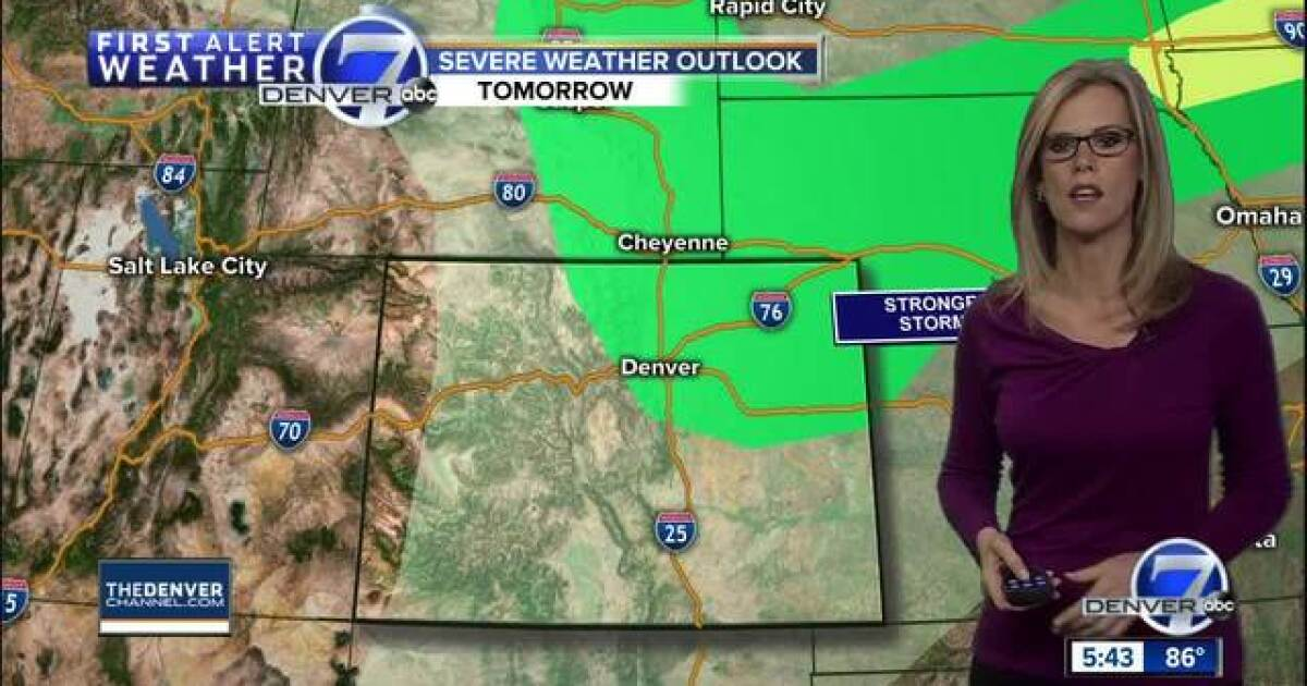 A chance for rain on Sunday in Denver