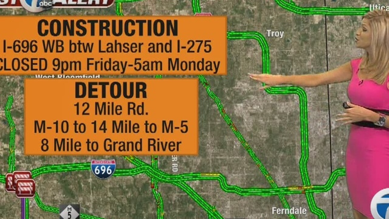 TRAFFIC: Get ready for I-696 closure tonight