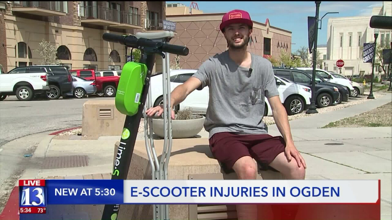 Electric scooters come to Ogden, bringing convenience and injuries