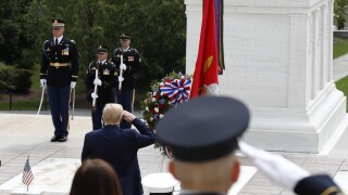 Trump doubles up with Memorial Day events in Virginia, Maryland