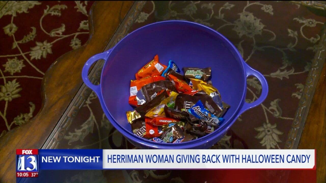 Herriman woman offers to take Halloween candy off your hands, into the hands of those deserve a 'thank you'
