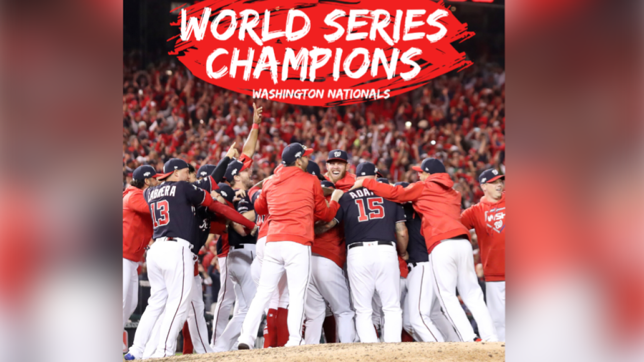 The Washington Nationals win 2019 World Series after 7 game series