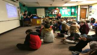 Weather visits Foothills Elementary and Journey K8