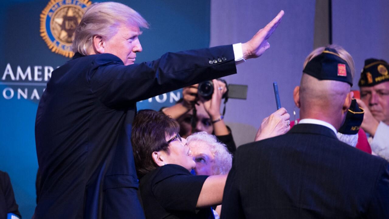 Did vets welcome Trump in Cincy?