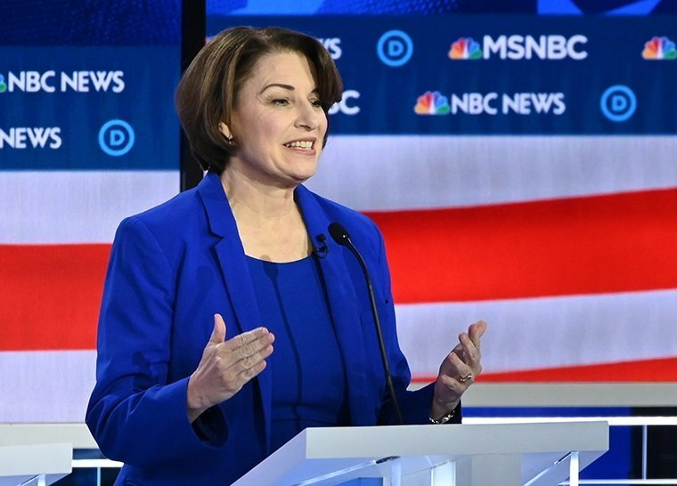 Photos: Impeachment inquiry takes center stage at Democratic primarydebate