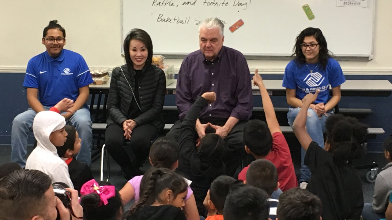 Governor-Elect Steve Sisolak met with students at the Las Vegas Boys and Girls Clubs while on a state-wide tour to Carson City