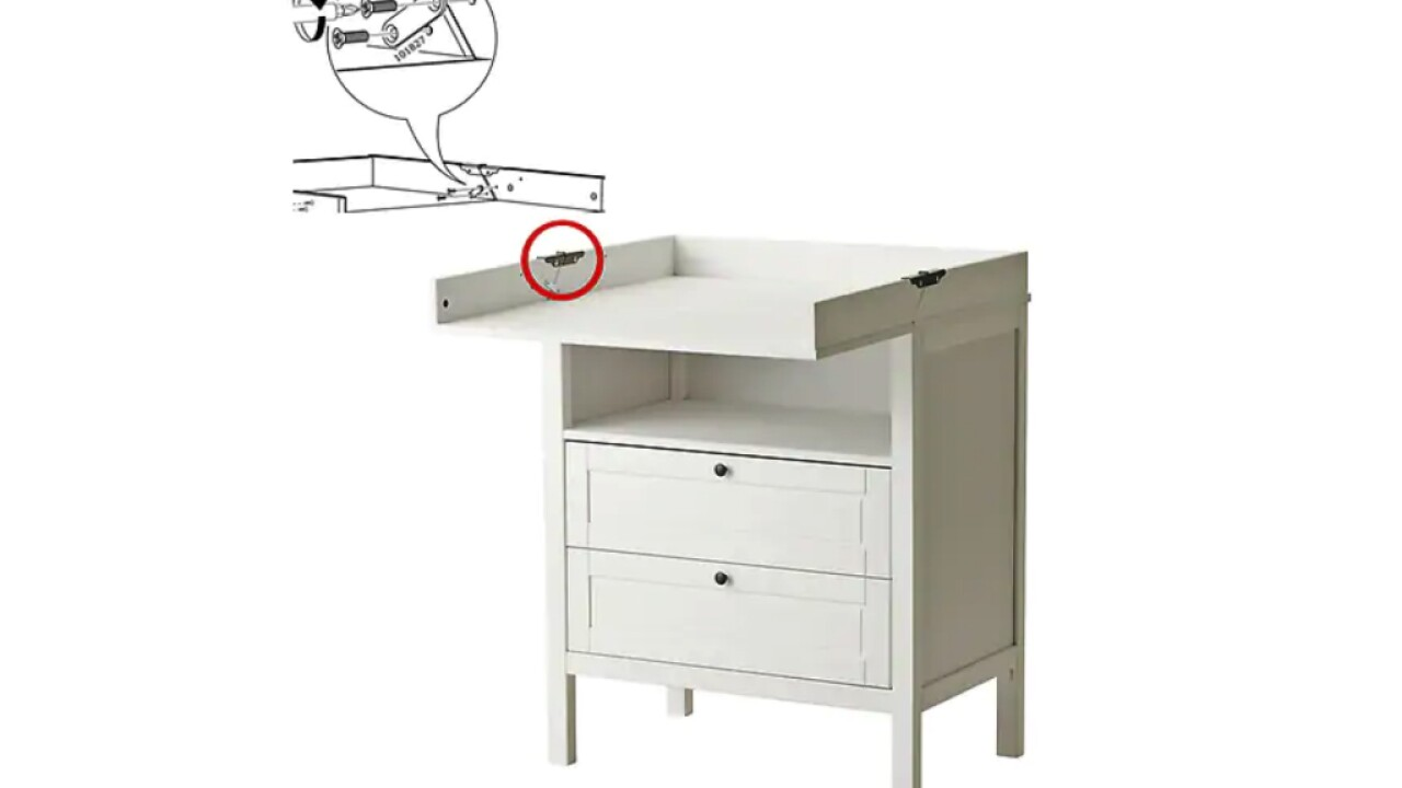 IKEA recalls changing table after reports of children falling
