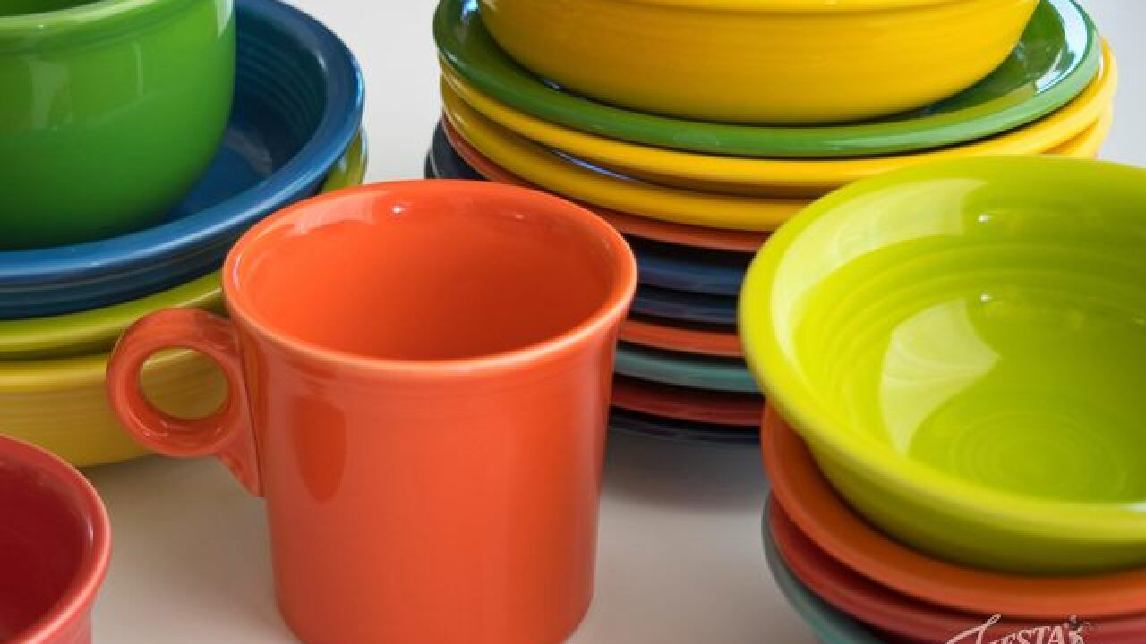 There's a special holiday Fiestaware set—And it's on sale