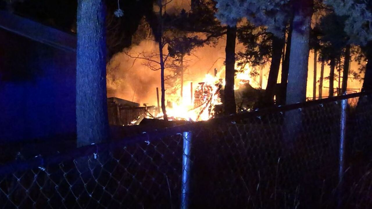 House fire in Tranquil Acres