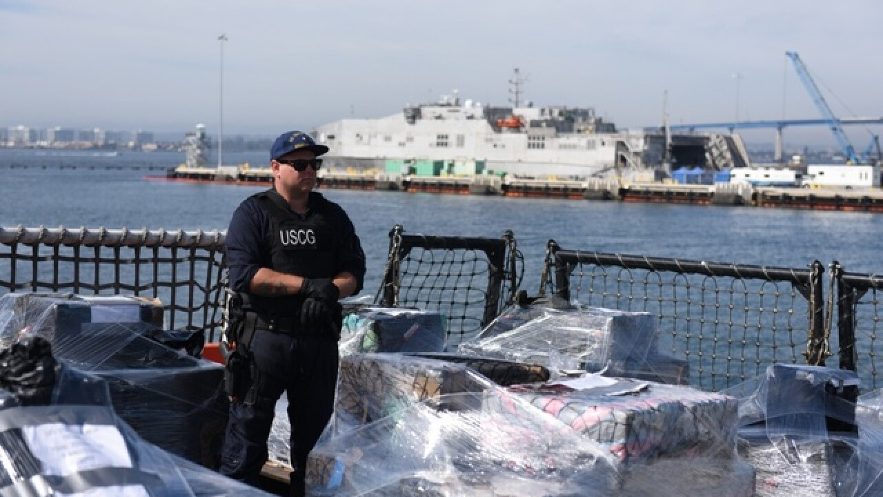 Coast Guard offloads 13 tons of cocaine in SD