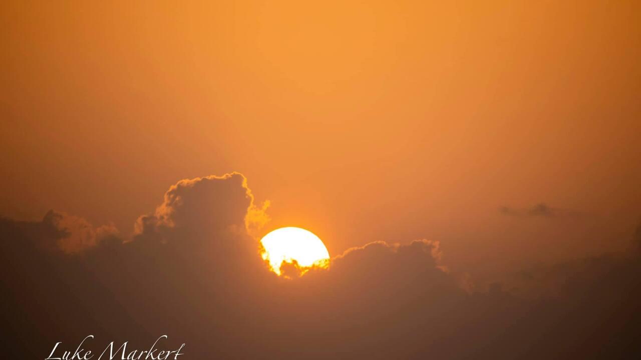 Packery Channel Sunrise - Photo By: FB Coastal Bend Weather Watcher Luke Markert