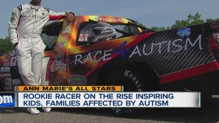 Race driver with autism tears up the track