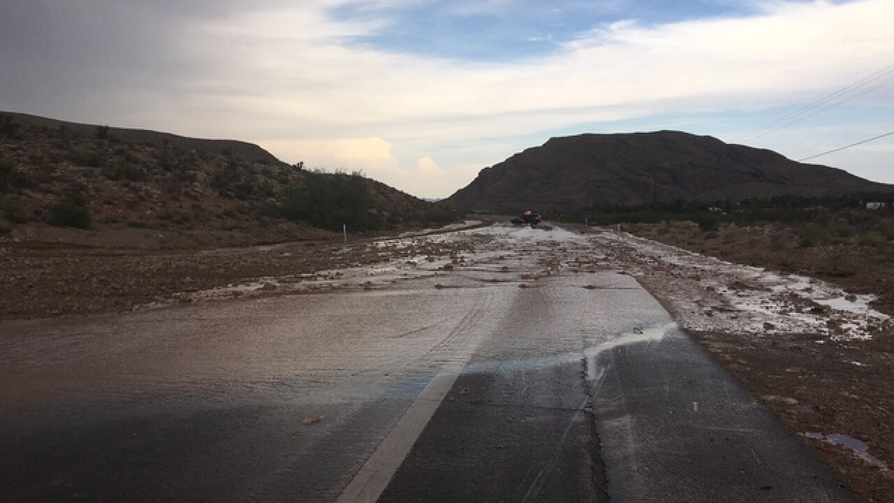 State Route 159 closed because of monsoon storm
