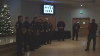 Pueblo Police officers honored at annual awards luncheon.