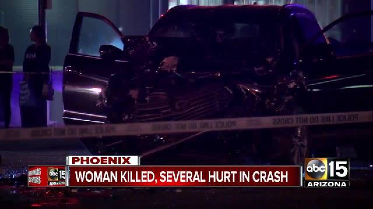 officials: woman dead, 3 others injured after west phoenix car crash