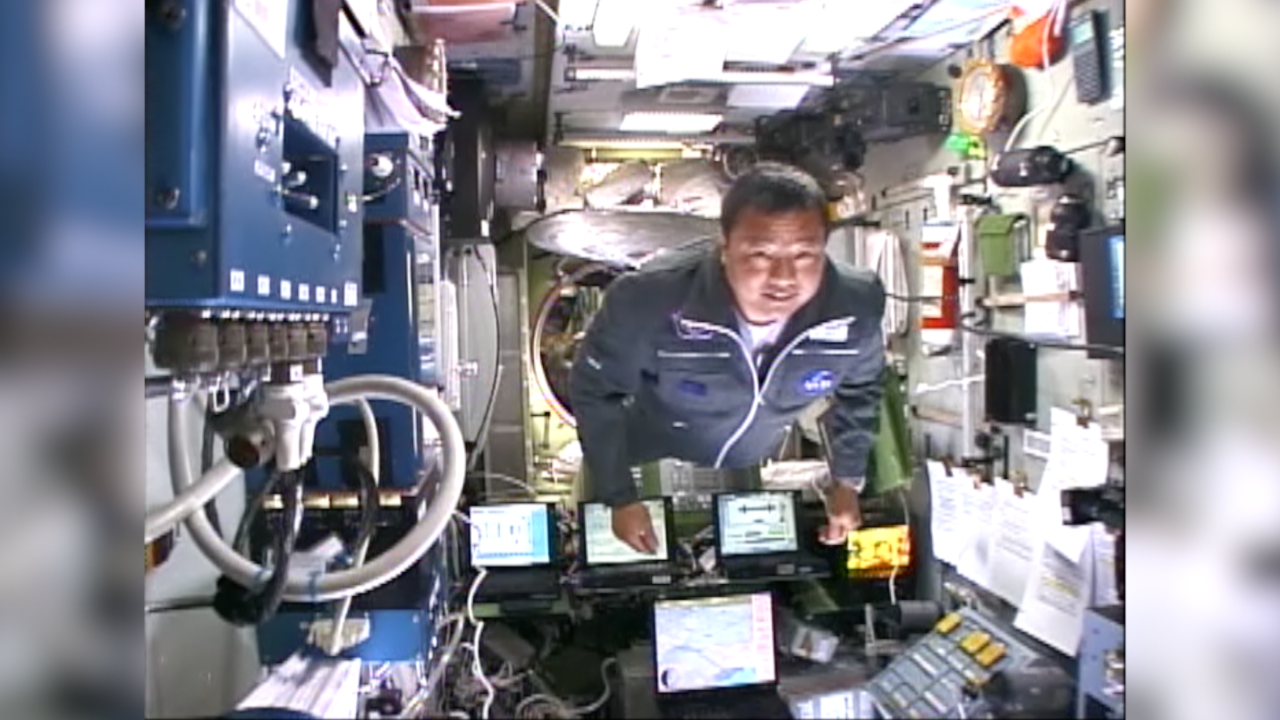 Dr. Leroy Chiao in space