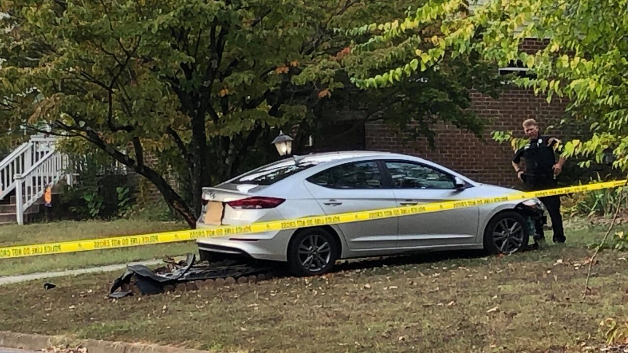 Man found shot in car after crashing into Chesterfield home has died