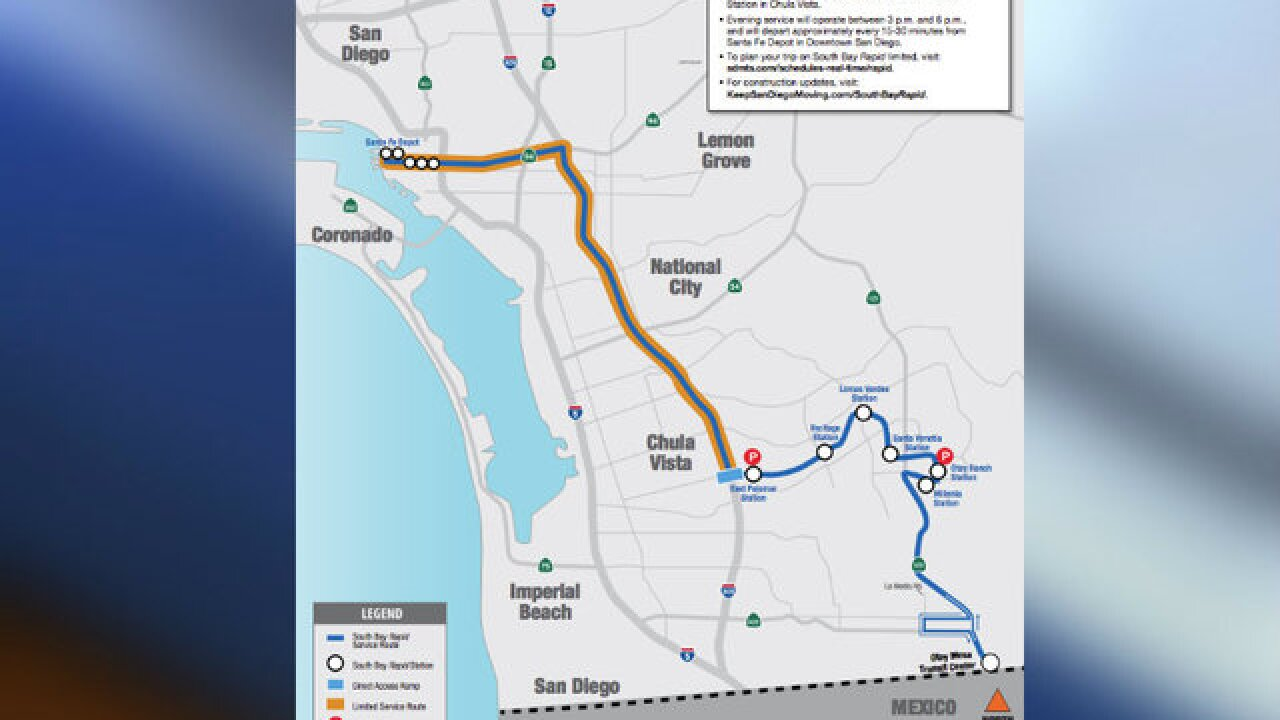 South Bay Rapid: Bus service from east Chula Vista to downtown San Diego set to begin