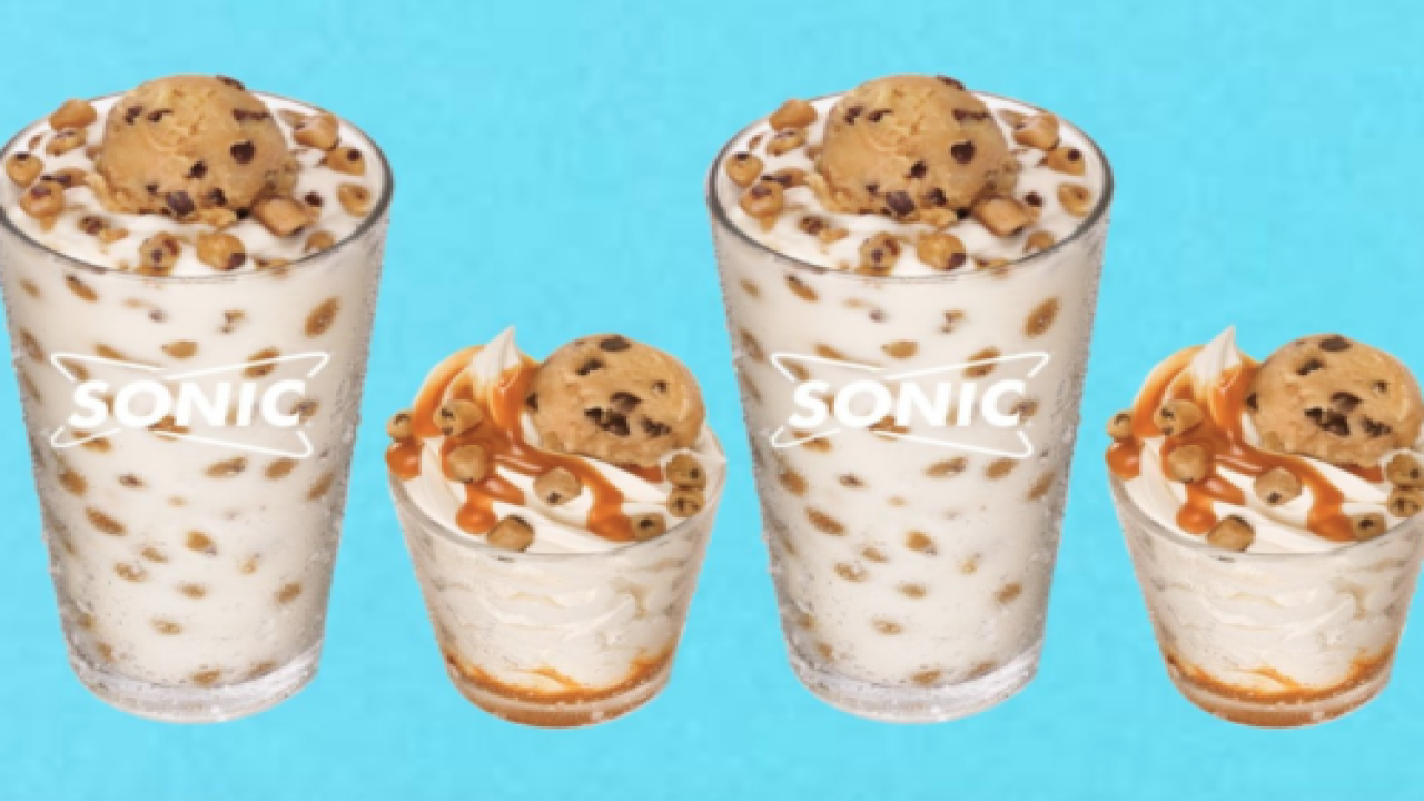 Sonic Is Now Topping Sundaes And Milkshakes With Scoops Of Edible Cookie Dough