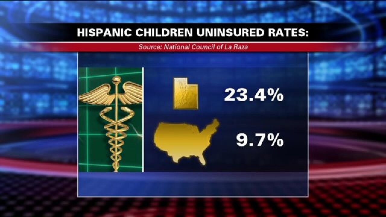 Utah ranks worst in nation for insuring Hispanic children